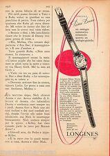 Pubblicità Advertising 1956 LONGINES Prima Donna