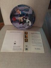 Kurt Ard Collector Plate Boy And Dog