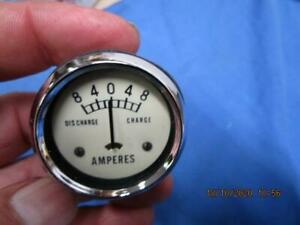 New White Face 6V Amp Gauge, Triumph BSA Norton AJS Ariel, Made In Japan    LU84