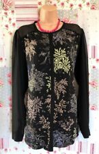 Next Size 20 Floral Blouse Sheer Sleeves