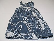 FIRETRAP QUIRKY BLUE WHITE SLEEVELESS SILK & COTTON PUFFBALL SUMMER SUN TOP UK 8