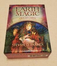 Earth Magic Oracle Cards Steven D Farmer 48 Card Deck Guidebook Tarot Boxed Set