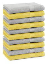 Betz Lot de 10 serviettes débarbouillettes Premium couleur: jaune & gris argenté