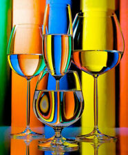 Full Drill Diamond Painting Kit Like Cross Stitch Colorful Wine Glasses Z085B