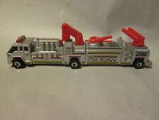 "1988 Matchbox Connectables Silver 7 1/2"" Fire Engine Truck 5 Piece Truck (Mint)"