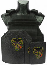 CATI AR500 Level III  Body Armor Black MOPC Carrier + ARMOR PLATES 10X12 6X8