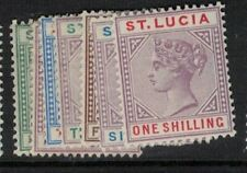 St Lucia SG 43-5, 47-50 MOG (3elm)