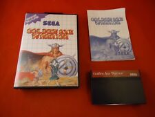 Golden Axe Warrior (Sega Master System, 1991) COMPLETE w/ Box manual UPC sticker