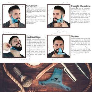 Men Beard Styling and Shaping Template Trimming Comb Beard Shaving Tool Flexible