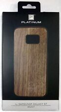NEW Platinum Samsung Galaxy S7 Natural Wood Phone Case WALNUT Brown modern cool