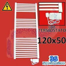 3S SCALDASALVIETTE RADIATORE ELETTRICO BIANCO 120 x 50 RESISTENZA con TERMOSTATO