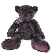 "GUND Cabearnet Bear 6458 Deep Purple Plush Stuffed Bear Curly Fur 18"" Bean Bag"