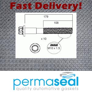 Permaseal Head bolt set fits Mercedes-Benz M266.960 A190 W169 B200t W245