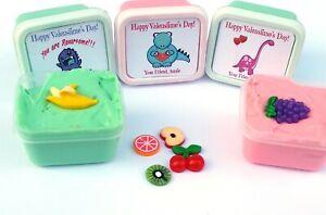 Valentine Dinosaur Slime Pack 3 Green Classroom Treats Party Favors bulk cheap