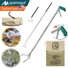 Foldable Snake Reptile Tongs Grabber Hook & Bag Heavy Duty Handling Tool Catcher
