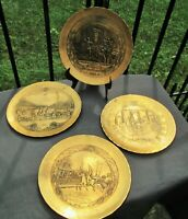 Wendell August Solid Bronze Patriotic USA America History Wall Plate Collection