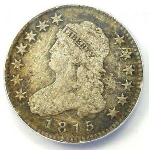 1815 Capped Bust Quarter 25C - ANACS F12 Details - Rare Coin - Scarce Date!
