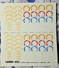 Decal TAMEO KITS 1/43 GOOD YEAR EAGLE YELLOW BBS OZ ENKEI SPEEDLINE CARTOGRAF