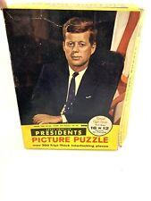 Vintage Tuco Puzzle JFK Picture Puzzle Over 350 Pcs. Complete