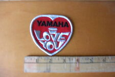 1970's YAMAHA EMBROIDERED PATCH SNOWMOBILES MOTORCYCLES 1970'S