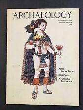 New listing Archaeology Magazine Janauary/Febraury 1980 Volume 33 Number 1