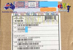 New Cisco Gigabit Metro Switch ME-3400EG-12CS-M w/ AC PSU, 1 Year WNTY, INVOICE