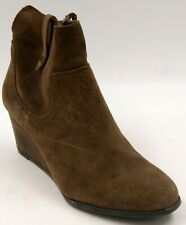 Lucky Brand  LP Gennee Brown Suede Wedge Booties Sz 9 M Shoes