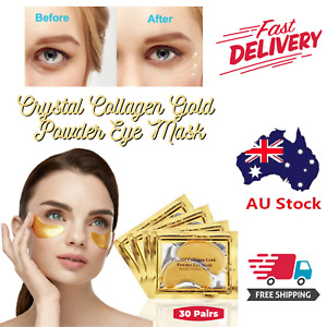 30 Pairs Under Eyes Patches Collagen Gold Eye Mask Gel Anti-Wrinkle Dark Circle