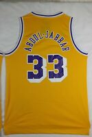 KAREEM ABDUL-JABBAR #33 Los Angeles Yellow Purple Basketball Jersey Stitched