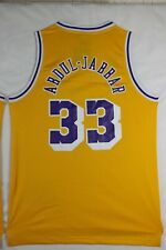 KAREEM ABDUL-JABBAR #33 Los Angeles Yellow Purple Basketball Jersey Stitched