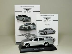 Kyosho Bentley Arnage T Silver 1:64 Scale Mint and Boxed