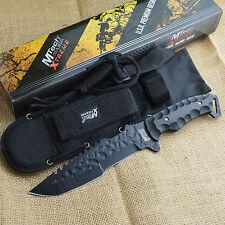 "Mtech Xtreme Black 12"" Premium Tactical Fixed Blade Knife With Sheath MX-8062BK"
