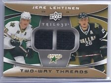 2008-09 UPPER DECK TRILOGY JERE LEHTINEN UD TWO WAY THREADS JERSEY STARS