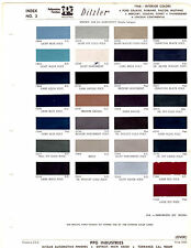 1968 FORD MUSTANG GALAXIE MERCURY COUGAR LINCOLN INTERIOR PAINT CHIPS DITZLER 2