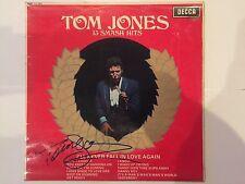 Tom Jones AUTOGRAPHED 12inch Vinyl LP- 13 Smash Hits- see photo Signing proof