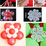 10Pcs Plastic Plum Blossom Balloon Clips Wedding Birthday Party Supplies Eager
