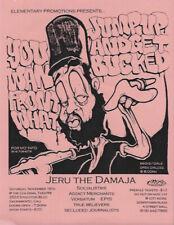 """New listing Vintage 4"""" x 5.5"""" Show Flyer: Jeru The Damaja Sacramento '90s Rare Original"""