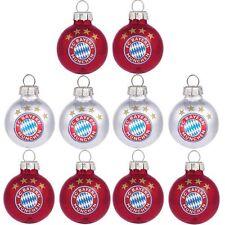 FC Bayern München Weihnachtsbaumkugeln Christbaumkugeln Mini 10er-Set klein