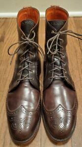 Recently Recrafted Allen Edmonds Dalton Brown Wing Tip Boots 14 D