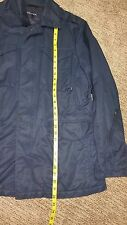 NAUTICA COTTON BLEND COAT MENS SIZE LARGE DARK BLUE