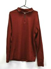Daniel Cremieux Men's Large Long Sleeve Club 38 1/4 Zip Up Pullover Jacket Red