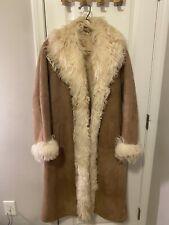 Sawyer of Napa Women's Full Length Coat Size 8 Fur Suede