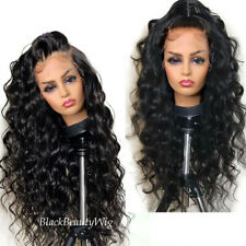 180% Density 13x6 Lace Front Human Hair Wig Pre Plucked Loose Wave Full Lace Wig