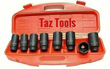 8pc 12 Drdeep Impact Socket Set Metric Front And Back Wheel Drive Axle Nut
