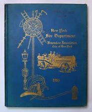 New York City Fire Department Benevolent Assn 1916 FDNY Firefighter History Book