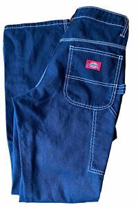 Dickies BLACK Carpenter Cargo Pants Straight Leg Womens Work Wear Pants 3/26