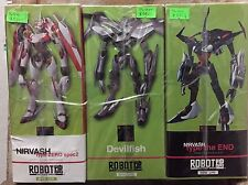 Robot Spirits Damashii Eureka Seven Lot Of 3 Nirvash Type Zero The End Devilfish