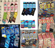 12X Pairs Kids Boy Girl Designer Animal Dinosaur Floral Print Fashion Socks