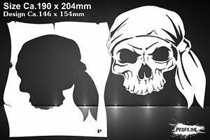 Airbrush Schablone Pirat Schädel Totenkopf - Pirates Skull Stencil