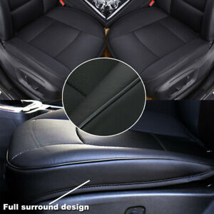 Deluxe Black PU Leather Car Seat Cushion Cover Protector Mat 3D Full Cover Pad